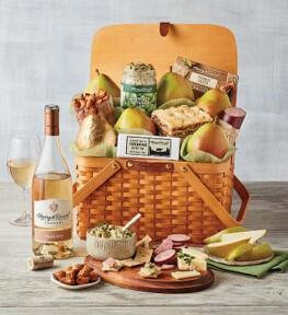 Trellis to-go picnic basket goodies